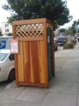 nice porta potty-left side