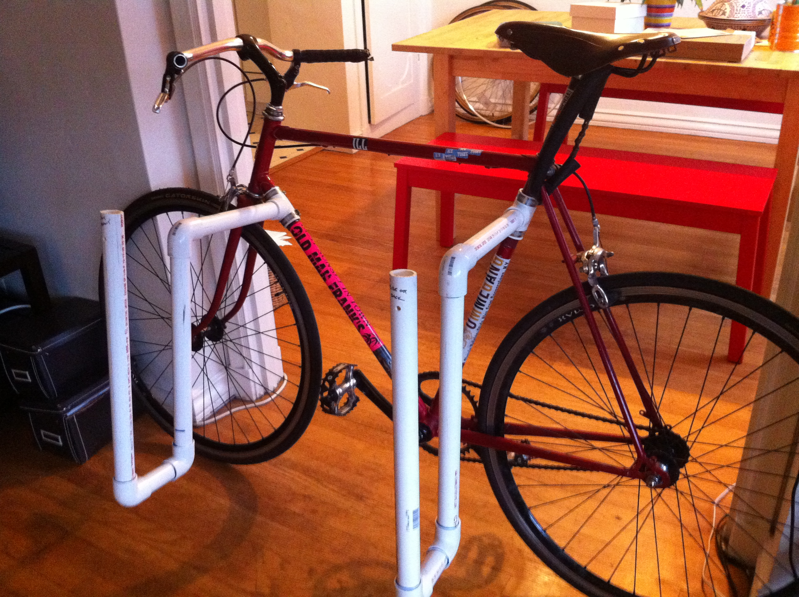 Pvc Surfboard Rack For A Bicycle