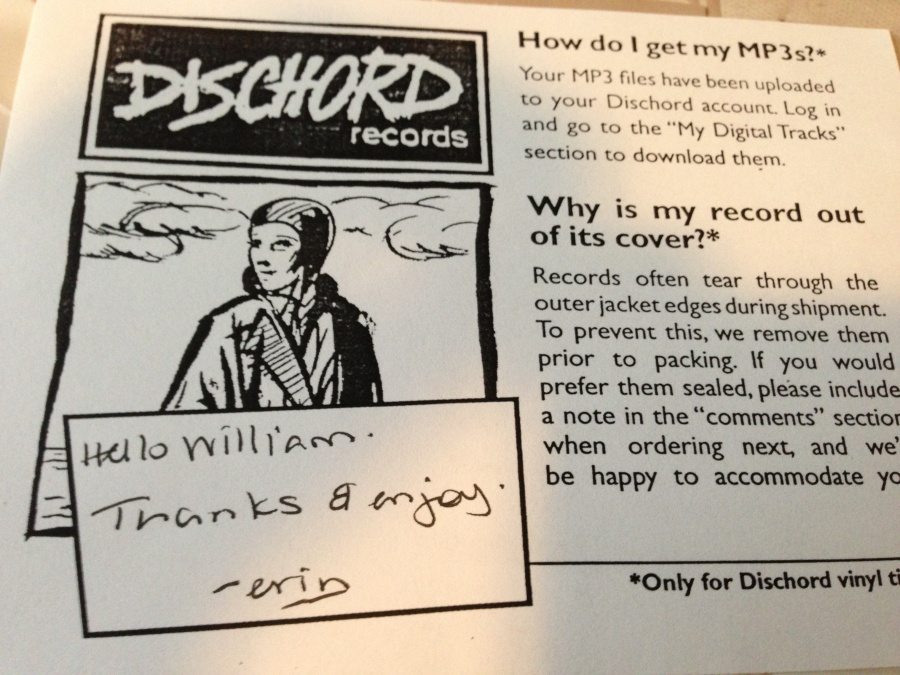 dischord thank you note