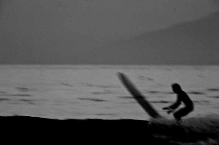 long boarder black and white